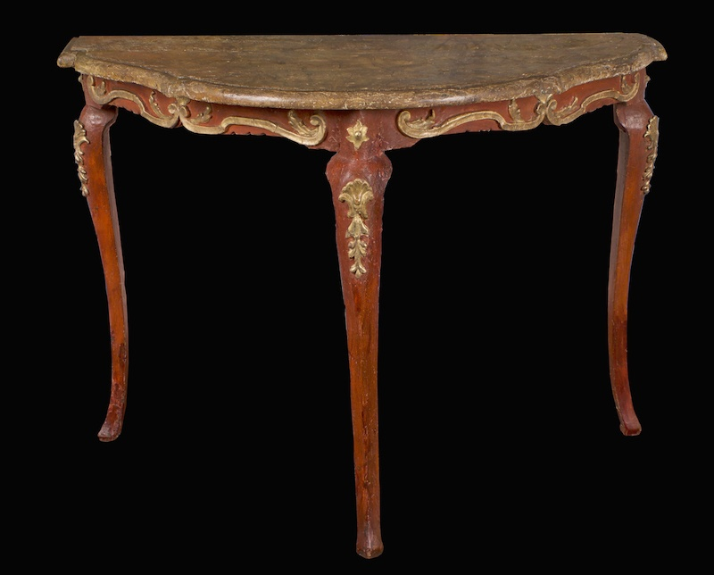 Italian Red Laquer & Giltwood Console…<s>$3,200</s> /<b>$2,200</b>