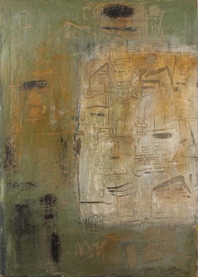 Ynez Johnston, 1961, 55″ x 38″