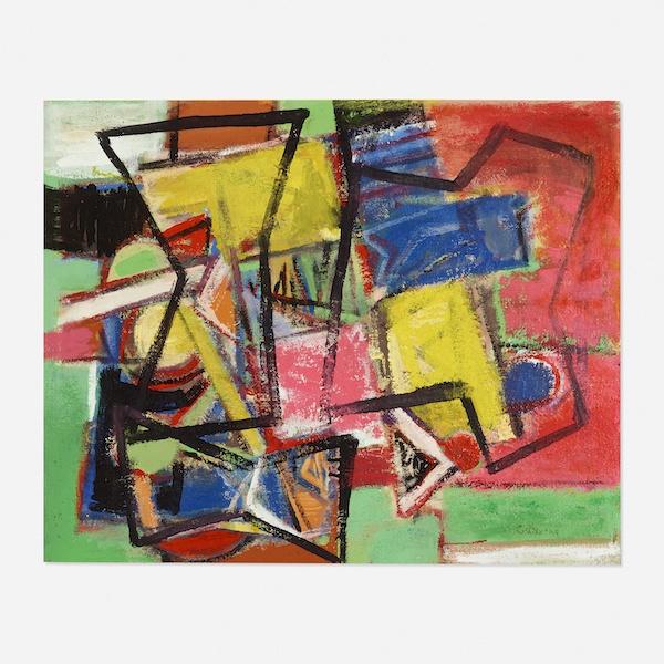 John Grillo, Untitled, 1949, 25.5″ x 31.5″ (framed)